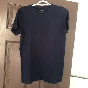 Everlane crewneck tshirt, navy, medium